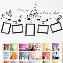 Wholesale Tree Wall Stickers For Kids - Photo Frame Family Tree Wall Sticker Wallpaper Photoframe Stickers on a Decorative Wall Decal for Kids Rooms Children Home Decoration