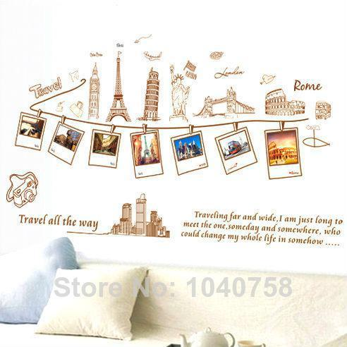 Pvc Removable Large Wallpaper World Map Wall Sticker Poster Home - World map wallpaper decal