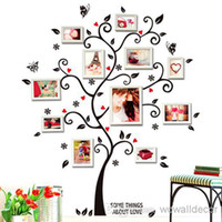 Wholesale Tree Wallpaper Decoration - PVC Large Photo Frame Home Decoration Love Family Tree Wall Sticker, Photoframe Decorative Wall Decal Art Poster Wallpaper Kids