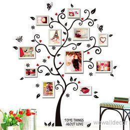 Wholesale Framing Media - PVC Large Photo Frame Home Decoration Love Family Tree Wall Sticker, Photoframe Decorative Wall Decal Art Poster Wallpaper Kids