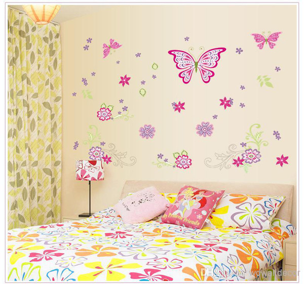 Large Paper Flowers Decorative Butterfly Wall Stickers Home Decor Poster Flower Decoration Tv Floral Wall Decals