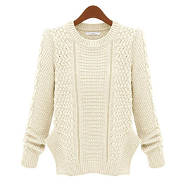 Pull En Cardigan Beige Dames Pas Cher-S5Q femmes Crochet Maille Cardigan Lady tricoté Pull Jumper Outwear AAADWQ