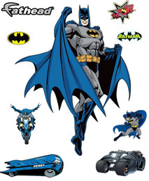 Wholesale Boys Decals - Removable PVC Fathead Batman Gotham Guardian Wall Sticker for Kid Boy, Cartoon Decorative Wall Decal Movie Poster Home Decoration Wall Art