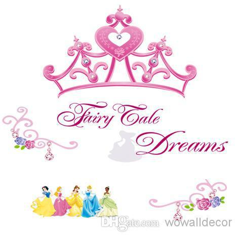 Queenu0027S Crown Cartoon Princess Wall Stickers For Girls Kids Room, Snow  White Decorative Wall Decals Home Decoration Wall Paper Art Post Wall Decal  Deals ... Part 86