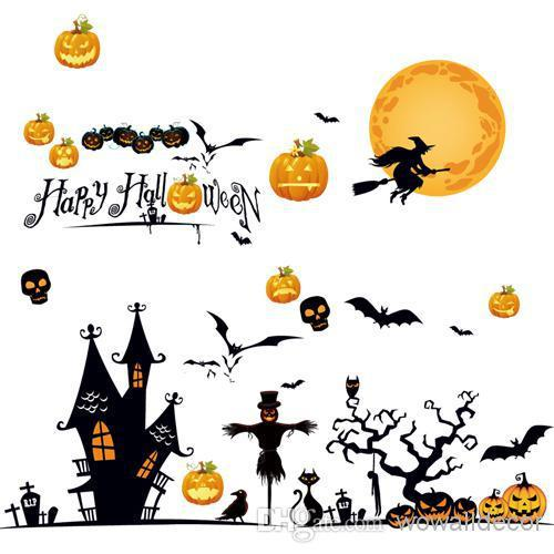 large halloween decorations wall sticker art decorative wall decals home decor wallpaper christmas halloween party decoration big wall decals big wall