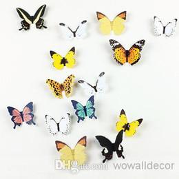Wholesale Butterfly Wallpaper Decor - 3D Paper Butterfly Decal Wall Stickers Wall Decor Butterfly Decoration Wall Art Butterfly Wallpaper Decorative Butterflies Party Decoration