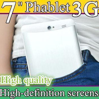 7pcs 3G Phablet Phone Calling Tablet PC MTK6572 Dual Core An...