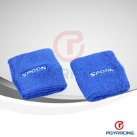 spoon honda - 2015 Special Offer Direct Selling Inch for Honda spoon Oil Catch Tank Can Cover Brake Reservoir Covers pair Blue Color