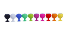 Wholesale Octopus Suckers - Best Mini Portable Octopus Golf Ball Silicone Speaker Subwoofer Sucker Cup Suction Stand for iPhone 5C 5S S4 iPod Smartphone PC HZ 005