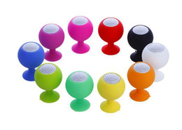 Wholesale Suction Ball Stand For Iphone - Hot Colorful Mini Portable Octopus Golf Ball Silicone Speaker Subwoofer Sucker Cup Suction Stand For iPhone 5 5S iPod Smartphone PC HZ 005