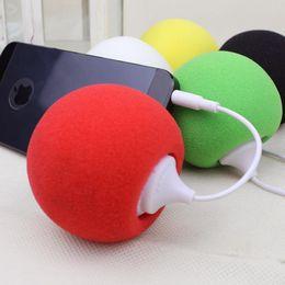 Wholesale Dock Mini Ball - Stereo Mini Speaker Portable Ball Speaker Audio Dock for 3.5mm iPhone 5 4S iPad iPod MP3 MP4 Music iPad PC Netbook DHL Free