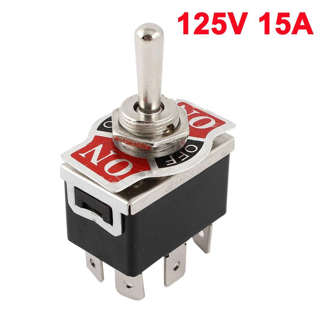 Best Vehicle Black 6 Pin 3 Position On/Off/On Dpdt Toggle Switch ...