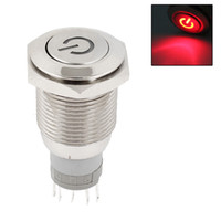 Wholesale Red LED Light SPDT Latching Push Switch V mm Thread for Car SUV Motor