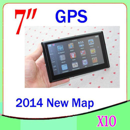 Wholesale united mp3 - DHL 10PCS 7Inch Car GPS Navigator 4GB With FM MP3 MP4 Multilingual Multi-country map ZY-DH-03