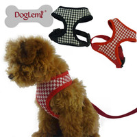 Wholesale Harness Rope Sizes - Free Shipping!!1set ,5 sizes 2 colors Fashion Peppita Dog Cat Soft Harness Pet Walking Harness,harness and rope