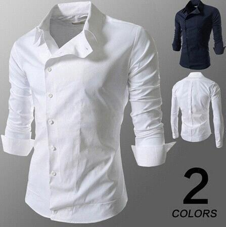 2017 New Design Men Solid Color Casual Cotton Shirts Mens Single ...