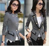 Wholesale Ladies Short Black Cotton Jackets - Comfortable leisure slim Wild suit Cozy women clothes Coat Ms. jacket lady blazers black ash