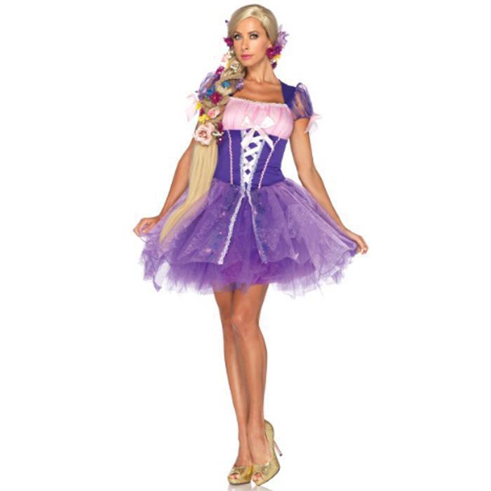 Online Cheap Sexy Adult Rapunzel Costume Women Fantasias Purple ...