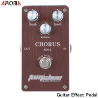 Wholesale Guitar Effects Pedals Noise - Aroma ACH-1 Guitar Effect Pedal Chorus Low Noise True Bypass Guitar Electric Effect Pedal with 3 Adjustable Knobs I437