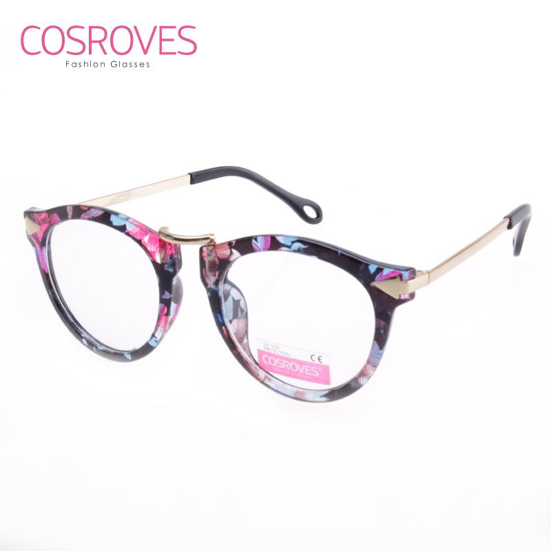 2015 New Fashion Glasses Frame Big Round Vintage Style Clear Lens ...