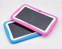 comprimidos de rockchip venda por atacado-Kid Educacional Tablet PC Tela de 7 Polegadas Android 4.4 RK3026 Núcleo Duplo 1.2 GHz 512 MB / 4 GB Câmera Dupla WIFI Crianças Tablet PC Varejo