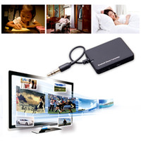 Wholesale Mini Tv Mp4 - Mini 3.5mm Bluetooth Audio Transmitter A2DP Stereo Dongle Adapter for TV iPod Mp3 Mp4 PC Bluetooth Transmitter Transmite V804