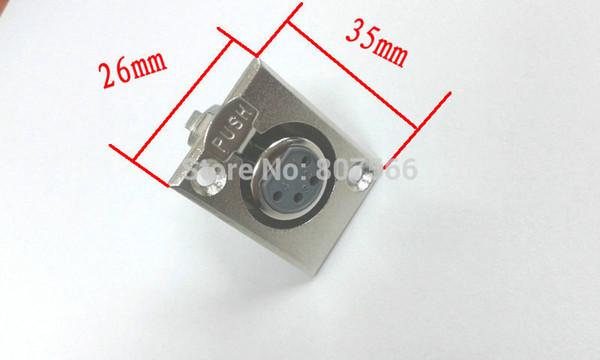 50 PCS 4 broches FEMELLE XLR Adaptateur pour panneau de socle à montage sur châssis