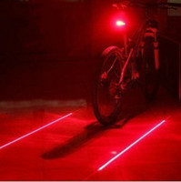 Wholesale Drop Shipping Bikes - Wholesale-New Bicycle Cycling Laser Tail Light (2 Laser + 5 LED) Bike Safety Back Rear Led Red Light Flashlight Lamp Free   Drop shipping