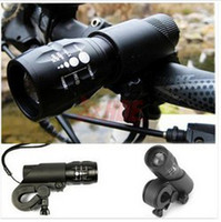 Wholesale Bike Mount Light - Wholesale-FREE SHIPPING New Cycling Bike Bicycle LED Flashlight Front Head Light with mount