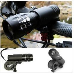 Wholesale Front Bike Lights - Wholesale-FREE SHIPPING New Cycling Bike Bicycle LED Flashlight Front Head Light with mount