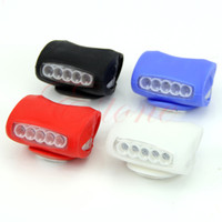 Wholesale Led Silicone Bike Lights - Wholesale-A31 New Hot Bike Bicycle Cycling 7 LED Silicone Front Lamp Safety Warning Head Light 4Colors