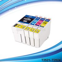 Wholesale Epson Cartridge Set - 1 set+1 extra LARGE SIZE BK,252XL BK C M Y T2521 compatible ink cartridge for WorkForce WF-3620 WF-3640 WF-7610 WF-7620 etc.