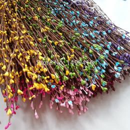 2019 flores artificiais grinaldas atacado Atacado 200 pcs Diy Guirlanda De Casamento Flor Artificial Cabeça Anel Pip Berry Hem Simulação Da Flor Da Flor Da Grinalda Acordeão flores artificiais grinaldas atacado barato