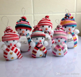 Wholesale Plastic Pendant Charms - Santa Claus christmas decorations Classic Snowman decoration Christmas Trees Hanging Ornament Christmas Gift Santa Claus Charm Pendant PS09