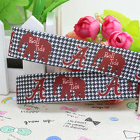 Wholesale Cheap Grosgrain Printed Ribbons - cheap baby & kids 7 8 a Roll Tide Printed Grosgrain Ribbon Hairbow Diy Party Decoration OEM fashion Best prices
