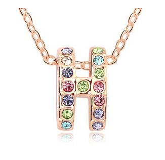 New Arrival Best Selling Fashion Brand jewelry Crystal Pendant Necklace 18K Rose Gold Plated lady Jewellery 10483