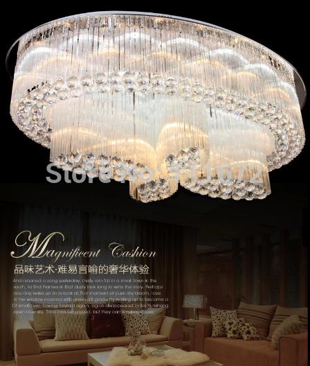 Discount New Cascading Large Modern Oval Chandelier K9 Crystal ...