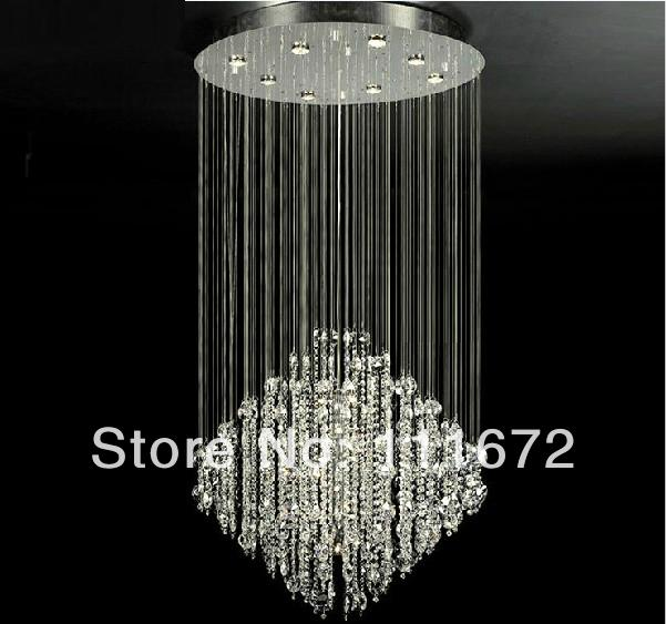 Hot S Flush Mount Modern Crystal Chandelier Best K9 Lamp For Home Hotel Restaurant Stairs Droplight With