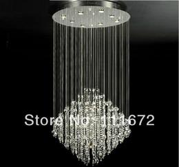 Wholesale Crystal Pendant Lamp Sale - hot sales flush mount modern crystal chandelier best K9 crystal lamp for home hotel restaurant stairs droplight