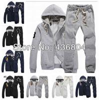 Wholesale Jacket Coat Men New Style - Wholesale-Free Shipping 2013 New Style POLO Men's Zipper cardigan Sport Suits Tracksuits Hoodies Fashion Coats Jacket Pants