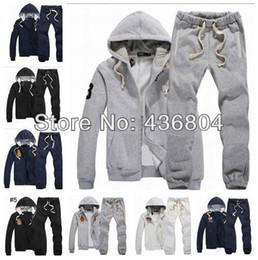 Wholesale Men S Suit Jacket Coat - Wholesale-Free Shipping 2013 New Style POLO Men's Zipper cardigan Sport Suits Tracksuits Hoodies Fashion Coats Jacket Pants