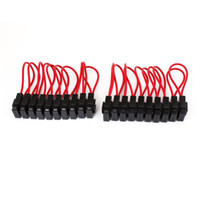 blades inline - 20 Auto Car Red Black Shell Audio Inline Blade Fuse Holder V