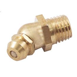 Wholesale Hydraulic Brass - Male Thread 45 Degree M8 Brass Hydraulic Grease Nipple Fitting