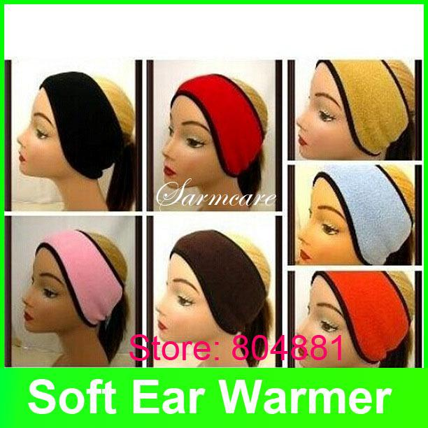 2pcs/lot Mixed Colors Per Lot Soft Polar Fleece Ear Warmer Multi-Choice Winter Use Warm Headband Accessary Women Earmuffs