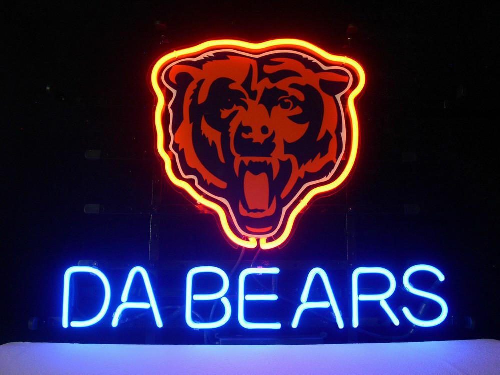 2018 FOR DA BEARS CUSTOMIZE Neon Sign Store Display Beer