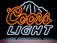 """Wholesale Coors Beer Lighted Signs - POPULAR COORS LIGHT neon sign store display beer bar handicraft real glass tube signs light 17*14"""""""