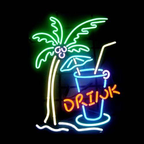 2018 Drink Tree Sea Neon Sign Custom Store Display Beer
