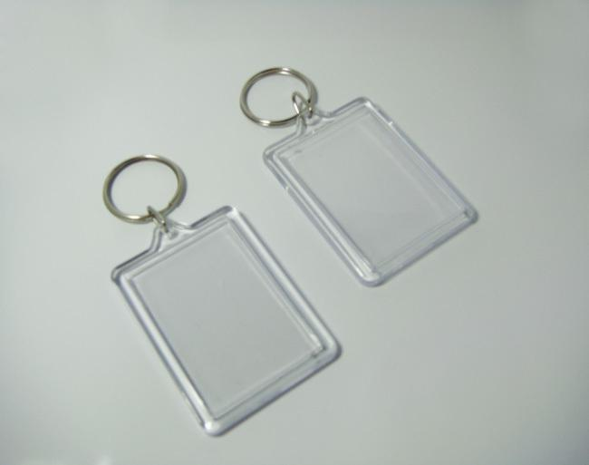 Wholesale Bigger Blank Acrylic Rectangle Photo Keychains Insert Picture   Logo Keyrings Key Tag 2.25x 1.65 Free UK 2019 From Fashion09 ce199a40380c