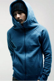 Wholesale Korean Hooded Jacket - Wholesale-Free shipping 2013 fashion mens hoodies Casual Slim gloves sweatshirt for men hip hop korean hooded jacket outerwear