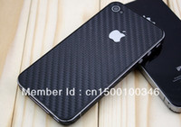Wholesale Carbon Iphone 4s Vinyl - Wholesale-Freeshipping(10 piece lot) Carbon Fibre Skin Sticker Vinyl Decal Full Body Wrap for iPhone 4 4S 4G BS-i4B